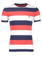 Ralph lauren t-shirt slim fit navy rood streep