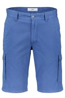 Regular fit shorts Brax met print blauw