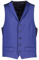 Roy Robson Gilet Blauw Effen Normale fit