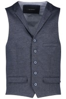 Roy Robson Gilet Donkerblauw Structuur Slim fit