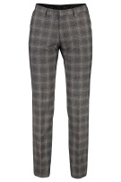 Roy Robson Pantalon mix & match Grijs Geruit Slanke fit