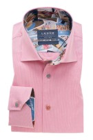 Roze overhemd Ledub Tailored Fit strijkvrij