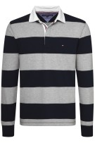 Rugby trui Tommy Hilfiger navy grijs gestreept