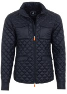 Save the Duck Jas Donkerblauw Effen Structuur Slim fit