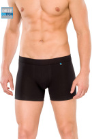 Schiesser boxershort zwart long life cotton