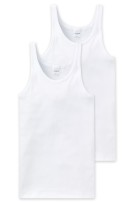 Schiesser Essentials Feinripp singlet wit 2-pack