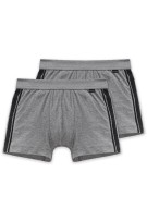 Schiesser Essentials short grijs 2-pack