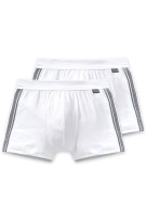 Schiesser Essentials short wit 2-pack stretch