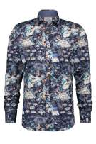 Shirt navy A Fish Named Fred festival map
