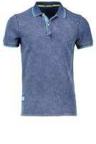 Shockly Polo Shirt Donkerblauw Effen Normale fit