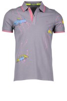Shockly Polo Shirt Grijs Print Normale fit