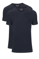Slater T-shirt donkerblauw two-pack