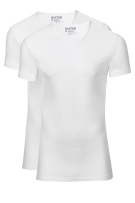 Slater t-shirt wit v-hals Stretch 2-pack