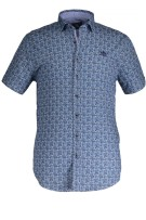 State of Art casual shirt blauw  print met stretch