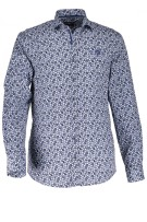 State of Art casual shirt print  blauw