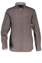 State of Art casual shirt print donkerantraciet