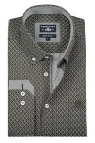 State of Art casual shirt print donkergroen