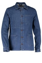 State of Art denim shirt blauw effen