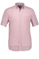 State of Art geruit roze casual  shirt comfort fit