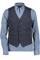 State of Art Gilet Donkerblauw Print Normale fit