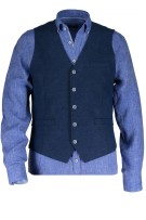 State of Art gilet marineblauw knopen modern fit