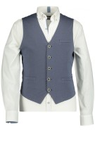 State of Art modern fit gilet met  knopen blauw