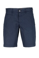State of Art navy bermuda met print