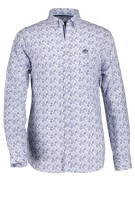 State of Art overhemd blauw print met stretch
