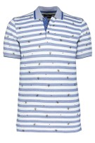 State of Art polo blauw wit gestreept