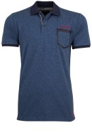 State of Art Polo Shirt Blauw Effen Normale fit