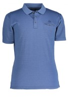 State of Art Polo Shirt Blauw Effen Wijde fit