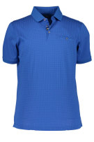 State of Art Polo Shirt Blauw Print Wijde fit