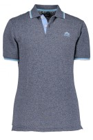 State of Art Polo Shirt Donkerblauw Gemêleerd Wijde fit
