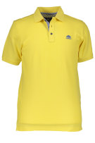 State of Art Polo Shirt Geel Effen Wijde fit