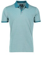 State of Art Polo Shirt Groen Print Wijde fit