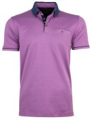 State of Art Polo Shirt Paars Effen Wijde fit