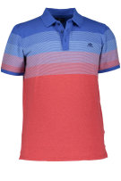 State of Art Polo Shirt Rood Blauw Print Wijde fit