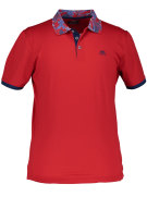 State of Art Polo Shirt Rood Effen Wijde fit