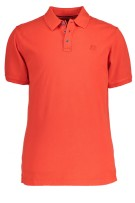 State of Art Polo Shirt Rood Oranje Effen Wijde fit