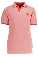 State of Art Polo Shirt Rood Oranje Gemêleerd Wijde fit