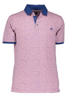 State of Art Polo Shirt Roze Blauw Print Wijde fit