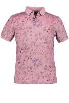 State of Art Polo Shirt Roze Print Wijde fit