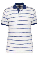 State of Art Polo Shirt Wit Blauw Gestreept Wijde fit