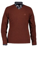State of Art pullover van wol donkerrood