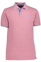 State of Art roze polo met blauw  contrast