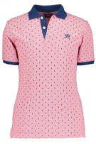 State of Art roze polo met logo