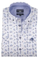 State of Art shirt blauw regular fit print