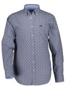 State of Art shirt met stretch blauw print