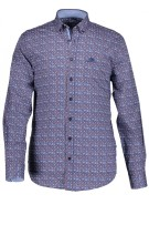 State of Art shirt met stretch  blauw