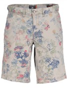State of Art Short Beige Print Wijde fit